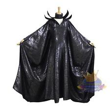 Deluxe Custome Made Maleficent Dress Cape and Horns Cosplay Black Witch Quality