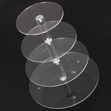 Acrylic 4 Tier Cupcake Cake Stand Round For Birthday Wedding Party Cake Shop