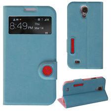 Cover para Samsung Galaxy s4 funda, funda protectora, estuche, funda con lengüeta móvil smart azul