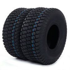 *2* TIRES Tubeless 15x6.00-6 Turf Tires 4 Ply Lawn Mower Tractor New