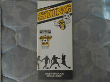 1983-84 CHICAGO STING MEDIA GUIDE Yearbook MISL Indoor Soccer Program 1984 AD