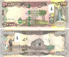 HUNDRED THOUSAND MINT IRAQ 2 x 50000=100,000 NEW IRAQI DINAR IQD 2015-CERTIFIED!