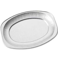 "14"" Foil Serving Platters Silver Embossed Catering Disposable 35cm"