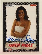 (55) 2008 Tristar TNA Impact Karen Angle Blue Ink On Card Auto Lot