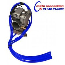 5 PIECE MBO SPORT CARBURETOR CARB HOSE VENT PIPE KIT - BLUE YAMAHA YZ250F 01-13