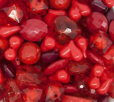 1 pound of Red Chunky Beads Bubblegum Gum Ball Necklaces- Mixed Lot