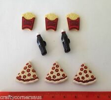 Pizza Coke and Fries Novelty Dress It Up Buttons 3597
