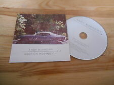 CD Pop Andy Burrows - Keep On Moving On (2 Song) Promo PIAS PLAY IT AGAIN SAM cb