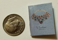 Miniature Dollhouse  Barbie 1/12 Scale Book Jewelry Cartier  Tiffany Faberge A