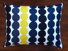 "Handmade 12 x16"" pillow cushion case cover from Marimekko Rasymatto black"