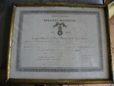 DIPLÔME SOLDAT MÉDAILLE MILITAIRE -CAVALIER-1872-