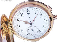"Invicta Taschenuhr ""Repetition Chronograph"" Gold ca. 1910"