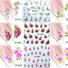 50 Sheets Pretty Mixed Flower Floar Design Water Transfer Nail Stickers Decals