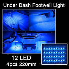 10K Blue 12LED Interior Kit Glow Under Dash Foot Well Seats Inside Light For Kia