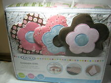 New 7 pcs Graco Garden Girl Nursery Baby Crib Bedding Set Floral Flower NIP