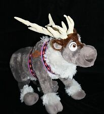 "Disney Store Frozen SVEN 16"" Reindeer Plush Doll Authentic Seal Stuffed Soft Toy"
