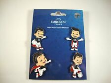 "EM 4-Pin-Set ""Super Victor"" UEFA Euro 2016 tm Maskottchen Set 2 Mascot"