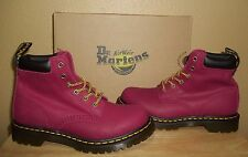Dr Martens 939 Women's Ankle Boots Deep Red Greasy Suede New NIB US 8 / UK 6