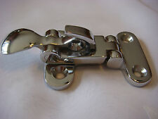 Anti Rattler DOOR FASTENER Chrome BRASS holder NEW Latch New Padlock latch