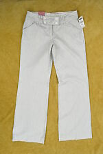 NWT OLD NAVY White Cotton Striped Wide Leg Sailing Pants ~ Sz 2 Regular Stretch