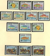 JORDAN 1974-75 18 COMPLETE SETS ALL NEVER HINGED FISH, ART PAINTING, SPORT, DEAD
