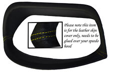 YELLOW STITCH FITS HONDA CIVIC & CIVIC TYPE R 01-05 GAUGE HOOD SPEEDO LTHR COVER