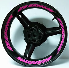 HOT PINK MAGENTA CUSTOM INNER RIM DECALS WHEEL STICKERS STRIPES TAPE GRAPHICS