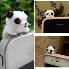 Cute Panda Shape Anti-Dust Plug Earphone Headphone Dustproof Cover Stopper Cap