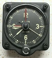 Jaeger LeCoultre A-7 Type No 3600R Aircraft Clock With RED Elapsed Time Hands