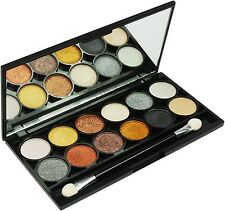 Technic Eyeshadow Pallette, 12 Metalix Eyeshadows in a Palette, with Mirror, New