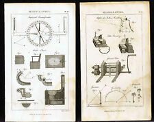 Water Closet-Bell-Vice-Grapnell -1810 Machinery Copper Engraved Prints