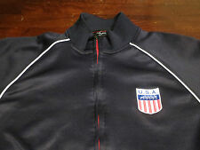 Mens USA Olympic Soccer Team FIFA World Cup Basketball Running Track Jacket Sz M