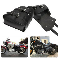 2× Motorcycle PU Leather Saddle Bag For Harley Sportster XL 1200 N R 883 Iron