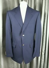 Navy Blue Blazer Gold Buttons Machine Washable by Chums 40