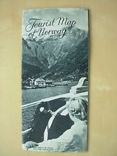 VINTAGE 1950's HOLIDAY TOURIST BROCHURE & MAP - NORWAY