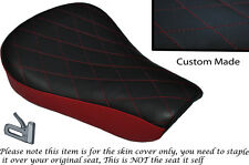 TWO TONE DIAMOND DRK RED CUSTOM FITS HARLEY SPORTSTER 883 48 72 RIDER SEAT COVER