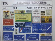 Verlinden 1/35 Road Signs in Operation Desert Storm Kuwait / Iraq [Diorama] 618
