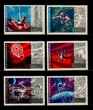 USSR RUSSIA STAMP. MNH-OG. COSMOS - 1972. Complet 6 timbres. Full set.