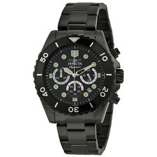 Invicta Signature II Black Dial Chronograph Black PVD Steel Mens Watch 7369