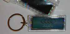 2 x AUDI (CARS) LOGO FLASHING SOLAR POWER NOVELTY KEYRING KEY RING FOB NEW