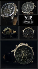 LUXURY CHRONOGRAPH CAVADINI WATCH TACHYMETER SWIVELLING RING ARABIC NUMBERS NEW