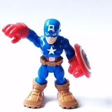 "PlaySkool Heroes CAPTAIN AMERICA 2.5"" Marvel Adventures  Super Hero Squad FIGURE"