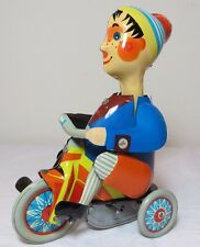 Vintage Tin Boy on Tricycle Reproduction by Kovap Czech Republic Wind-up Toy #3