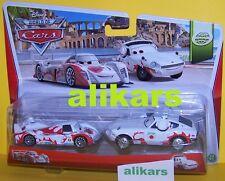 SHU TODOROKI & MACH MATSUO 2Pack Mattel Disney Pixar Cars 1:55 Metal Diecast