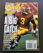 NFL FOOTBALL DIGEST Magazine Keyshawn Johnson USC Cover June 1996 Gridiron NCAA
