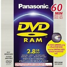 New PANASONIC LM-AK60U 2.8GB DVD-RAM Disc for DVD Camcorder W Round Holder Caddy