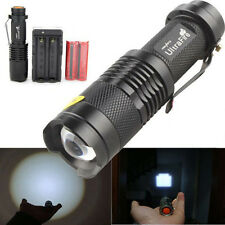 SK98 3000LM XML T6 LED Zoomable Zoom Flashlight Torch + 18650 Battery + Charger