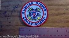 military patches US COAST GUARD patch NEW NICE 3INC ROUND
