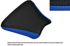 DESIGN 2 BLACK & R BLUE CUSTOM FITS HONDA CBR 250 MC 22 FRONT LEATHER SEAT COVER
