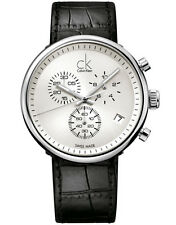 NEW CK CALVIN KLEIN K2N271C6 SWISS MADE CHRONOGRAPH WATCH SUBSTANTIAL